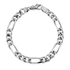18 Karat White Gold Chain Bracelet