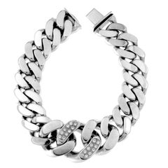 Massive 18 Karat Gold Chain Bracelet