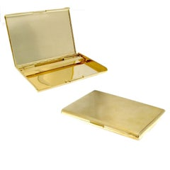 18 Karat Gold Cigarette Holder Case British Style