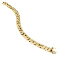 18 Karat Yellow Gold Chain Massif Effect Bracelet