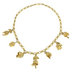 Yellow 18 Karat Gold Charm Athen Collection