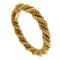 Bracelet 18 Karat Pink Gold Twisted with Rope