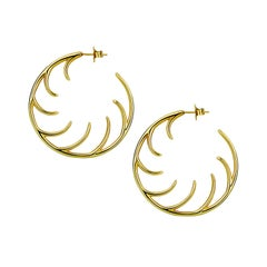 Luke Rose Yellow Gold Hoop Earrings