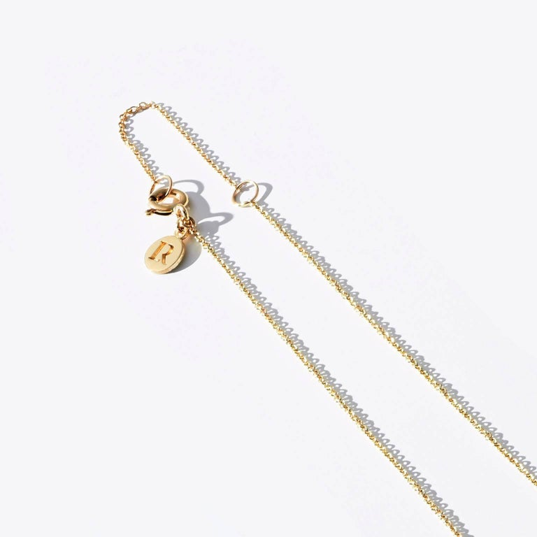 Luke Rose Yellow Gold Champagne Diamond Drop Necklace 4