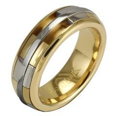 Luke Rose 18 Carat Yellow and White Gold Ladies Revolver Ring