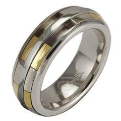 Luke Rose 18 Carat White and Yellow Gold Ladies Revolver Ring
