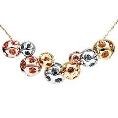 Towe Norlen Magique Contemporary Set of Nine Gold Pendant Necklace