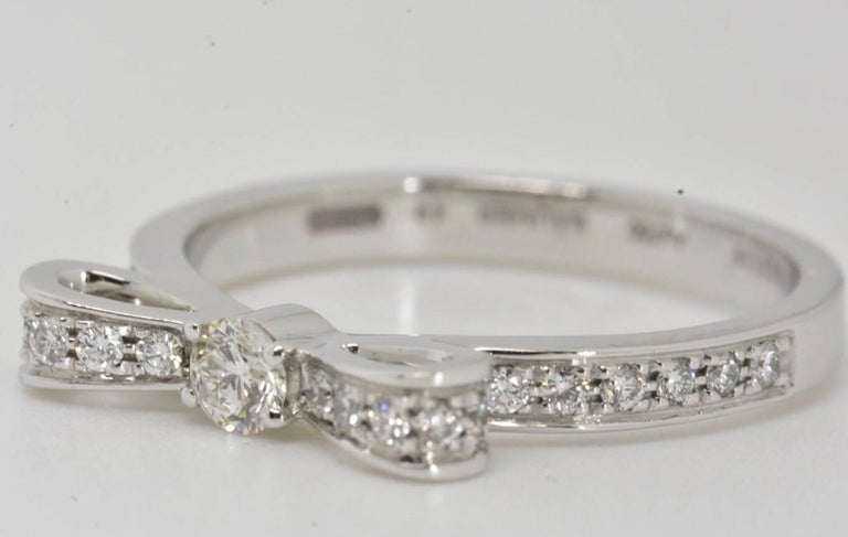 Chanel Diamond Bow Ring In Excellent Condition For Sale In London, GB