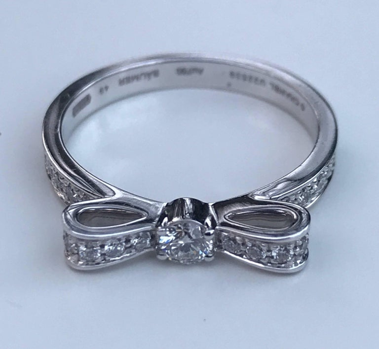 Chanel Diamond Bow Ring For Sale 2