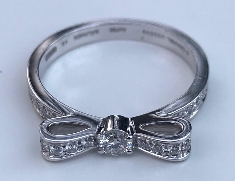 Chanel Diamond Bow Ring For Sale 3