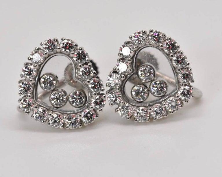 Chopard Happy Diamond Earrings 9