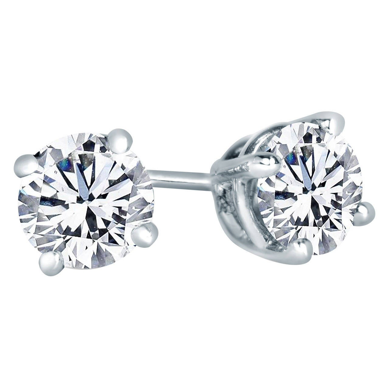1 carat stud earrings sale 2 06 carats gold stud earrings for sale at 1stdibs 4715