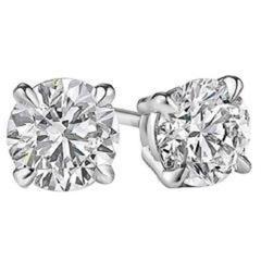 1.41 Carat Diamond Studs Earrings Four Prong