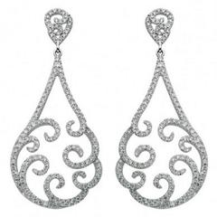Diamond Dangle Drop Earring