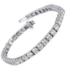 10.00 Carat Diamond Gold Tennis Bracelet