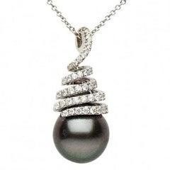Tahitian Pearl Diamond Pendant