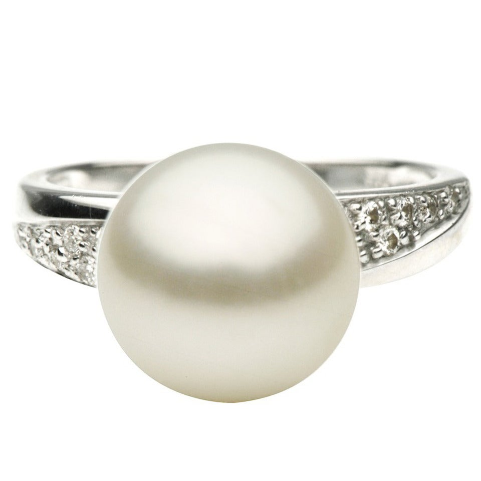 south sea pearl and white gold ring for sale at
