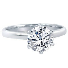 1.05 Carat GIA Cert Diamond Gold Solitaire Ring