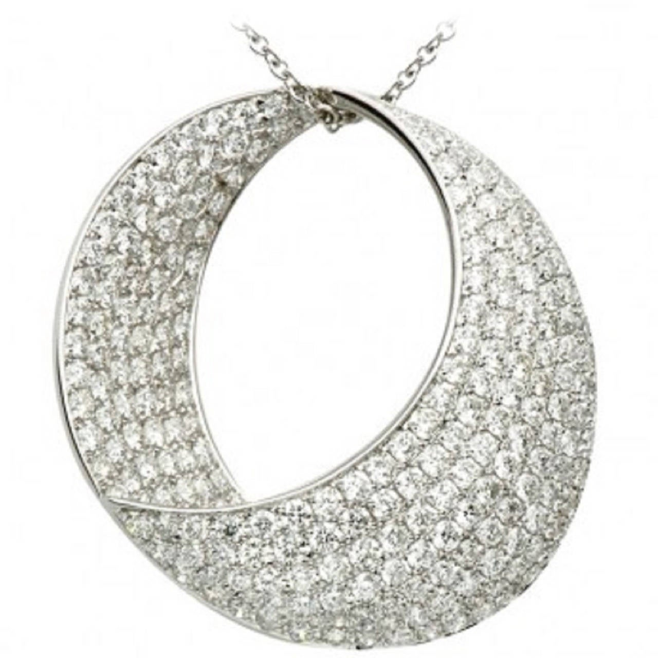 Unbelievably Stunning Diamond  Round Pendant For Sale
