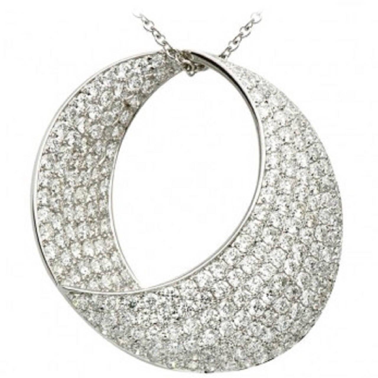 Unbelievably Stunning Diamond  Round Pendant