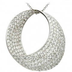 Unbelievably Stunning Diamond  Round Pendant