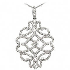 Diamond Gold Filigree Pendant