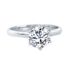 Diamond Solitaire White Gold Engagement Ring