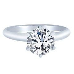 Brilliant Diamond Solitaire Ring 2.09 Carats