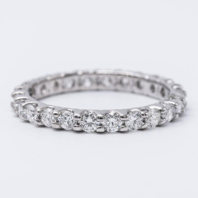 Brilliant Diamond Gold Eternity Band Ring 2.00 Carats 4