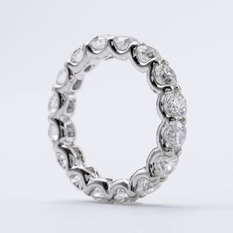 Brilliant Diamond Gold Eternity Band Ring 2.00 Carats 3