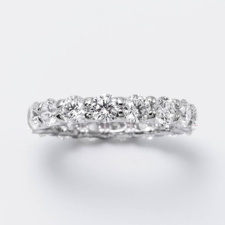 Brilliant Diamond Gold Eternity Band Ring 2.00 Carats 2