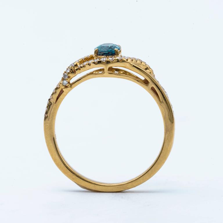 Women's Alexandrite Yellow Gold Ring For Sale