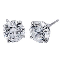 Diamond Studs 2.01 Carat GIA Certificate H-SI/I1