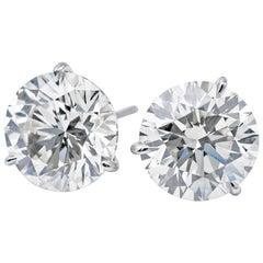 Diamond Studs GIA 3.29 Carat G-H SI2-I1