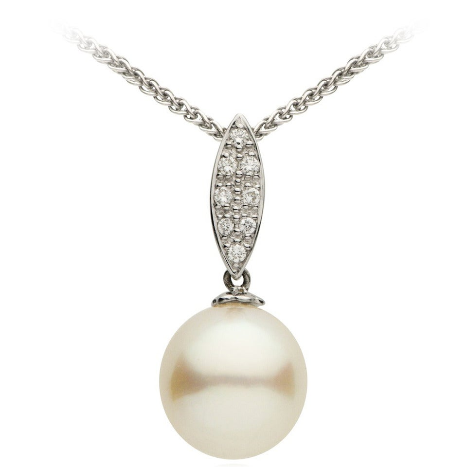 South Sea Pearl Diamond Gold Pendant