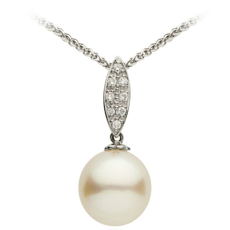 South Sea Pearl Diamond Gold Pendant