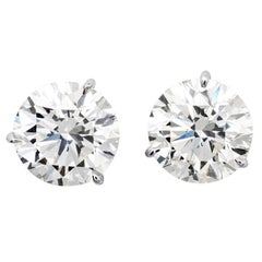 Brilliant Studs Earrings 4.24 Carat G-H/I1 GIA