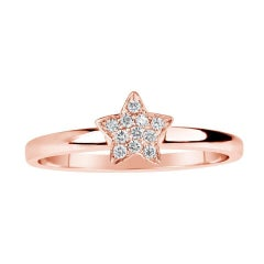 Rose Gold Diamond Star Ring