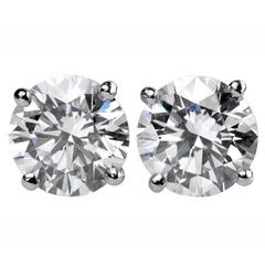 9.00 Carats Brilliant Diamonds Gold Stud Earrings