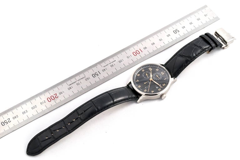 Men's Junghans stainless Steel Agenda with Complications Automatic Wristwatch  For Sale