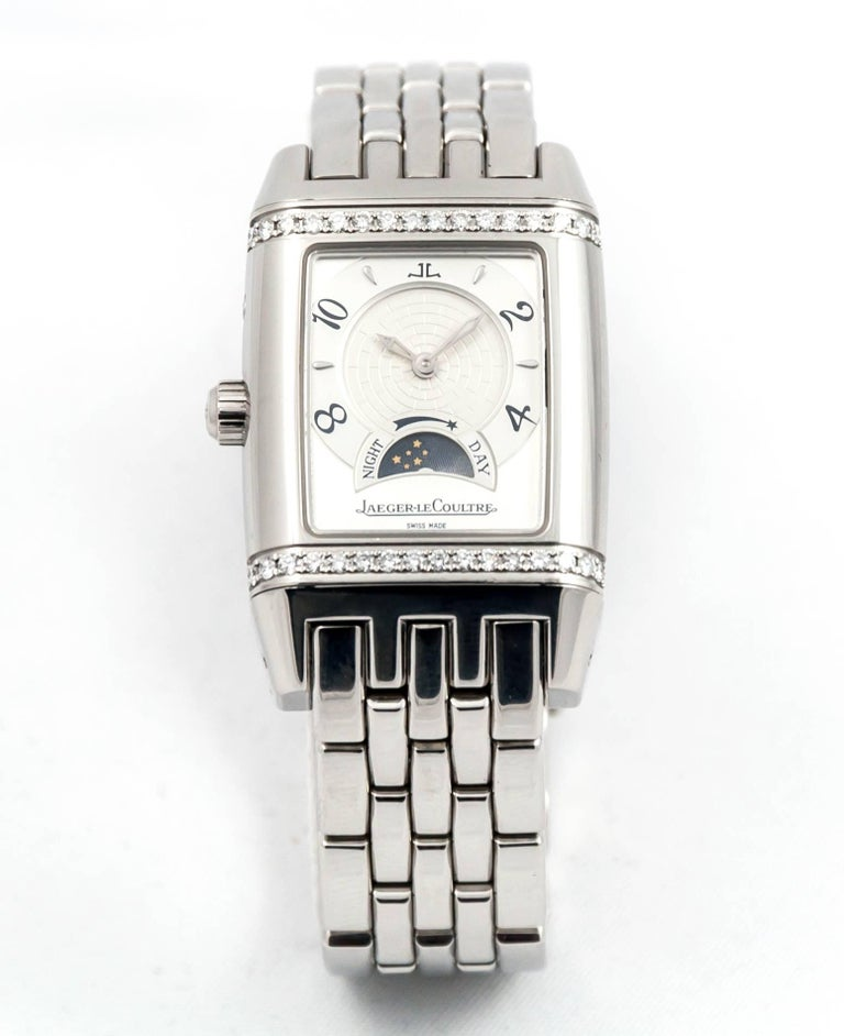 Women's Jaeger LeCoultre Ladies stainless Steel Reverso Duoface Mechanical Wristwatch
