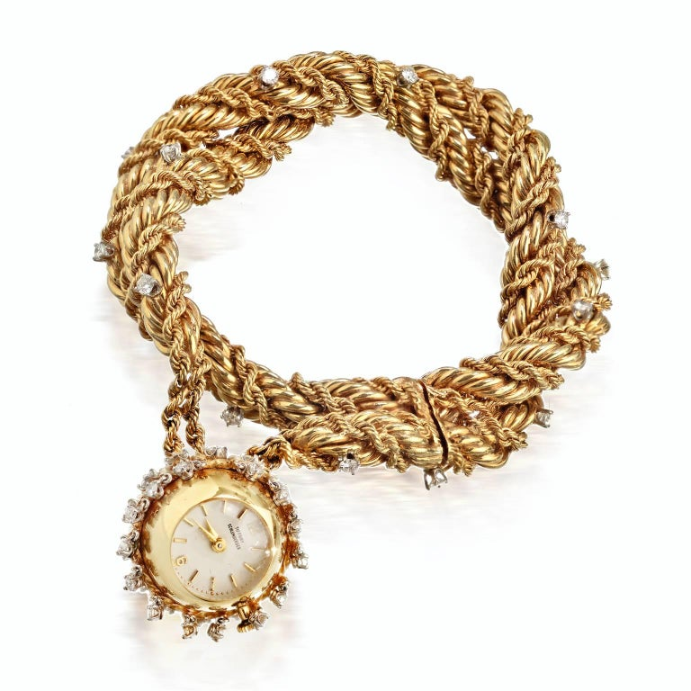 Tiffany Co Schlumberger Double Strand Diamond Charm Watch Bracelet