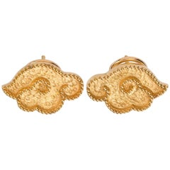 Chinoiserie Gold Earrings