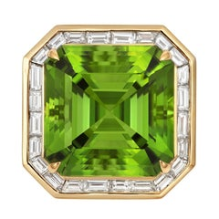 Tivon Fine Jewelry  Peridot Diamond Ring