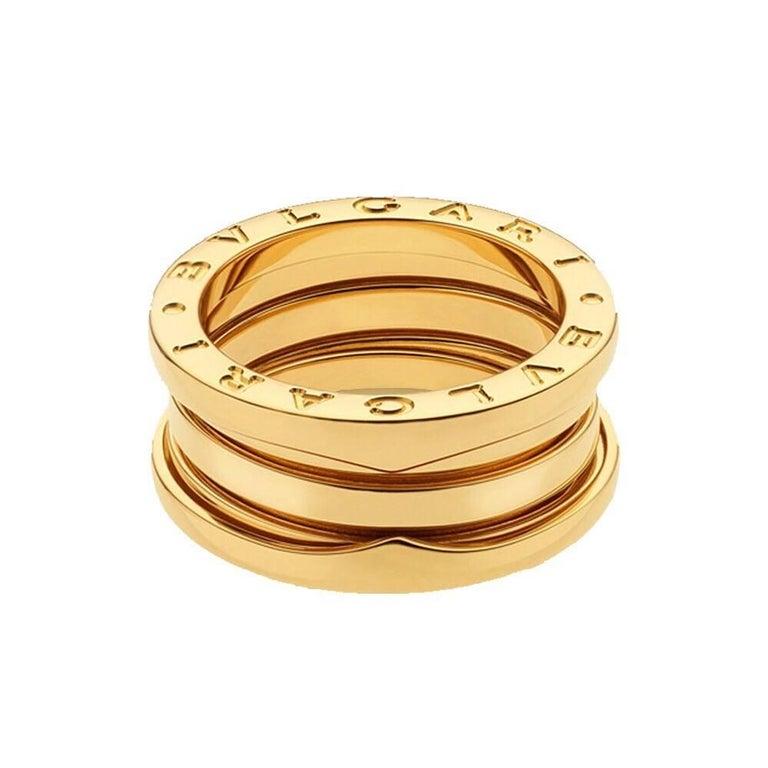 Bulgari B.Zero1 3-Band 18 Karat Gold Band B Zero 1 Ring