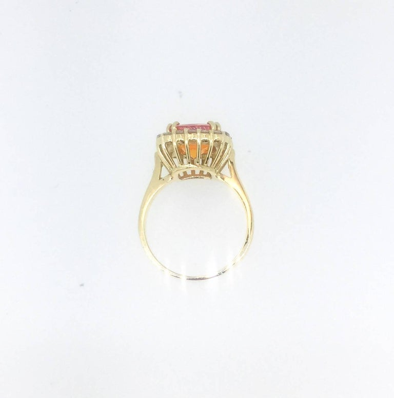 2.48 Carat Fire Opal Diamond Cocktail Ring In As new Condition For Sale In San Dimas, CA