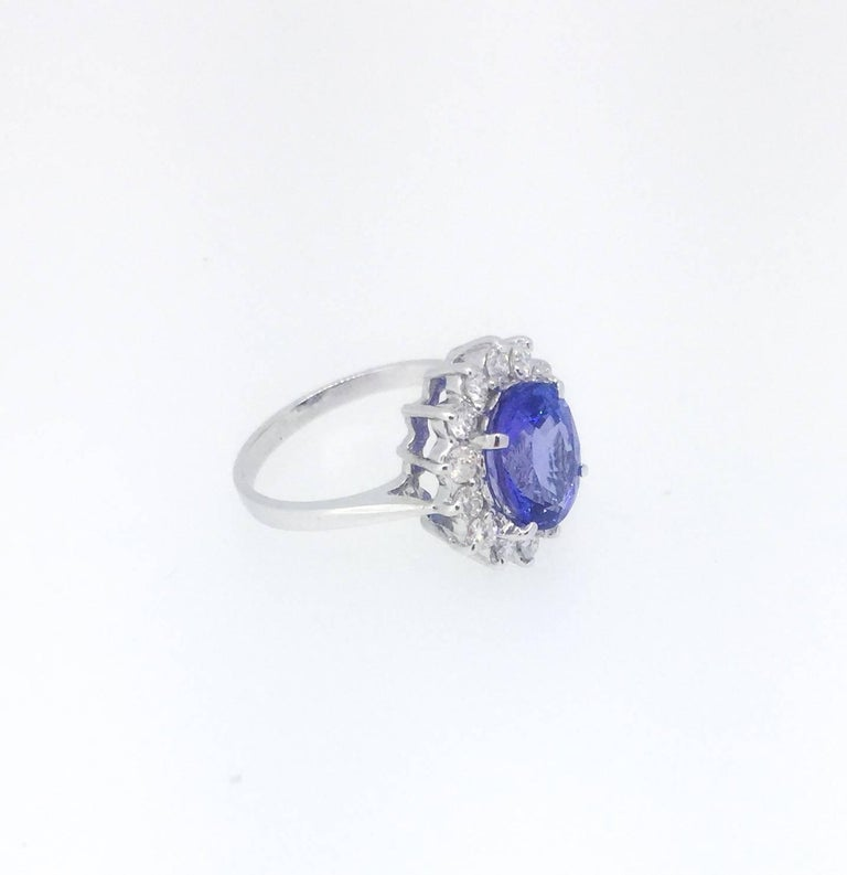 Modern Tanzanite Diamond Ring For Sale
