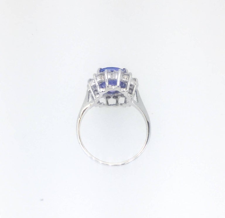 Oval Cut Tanzanite Diamond Ring For Sale