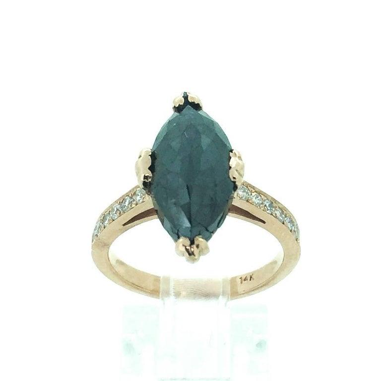 Black Diamond Engagement Ring For Sale at 1stdibs