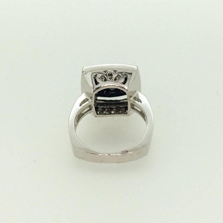 8 44 Carat Black Diamond Engagement Ring For Sale at 1stdibs